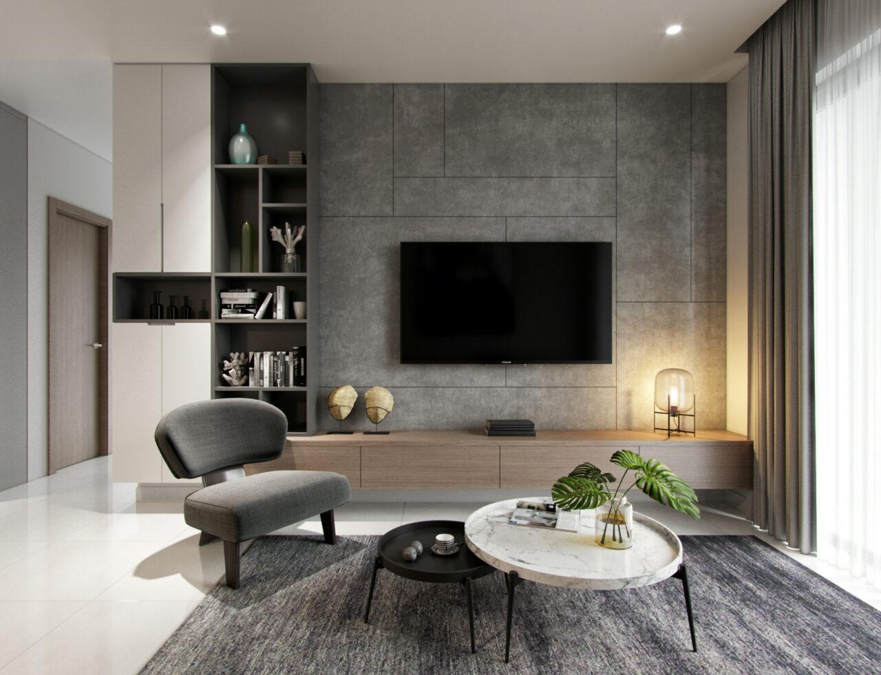 Мебел за Дневна соба по нарачка - DM-20048